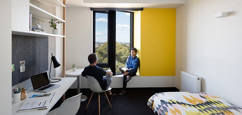 Monash University Holman Hall student accommodation.