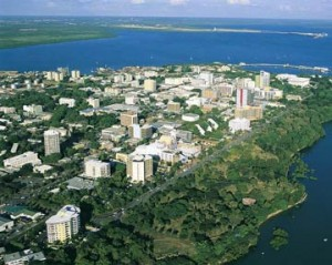 Darwin City in the Northern Territory.