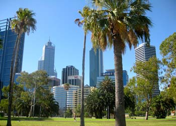Kings Park and Perth City.