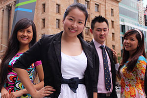 International students in Brisbane.