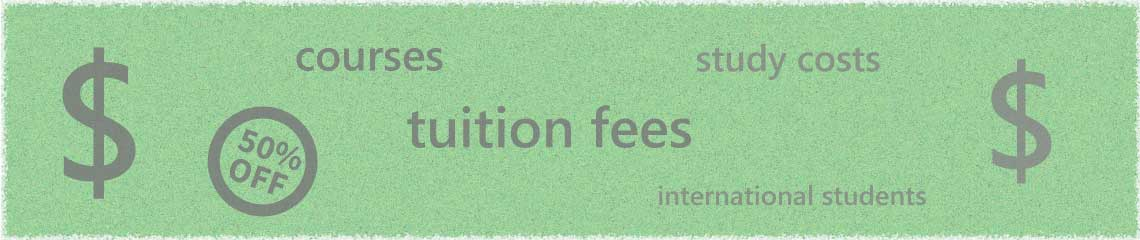 Tuition fees for international students at Australian universities.